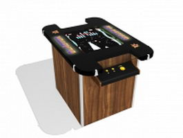 Cocktail arcade machine 3d model