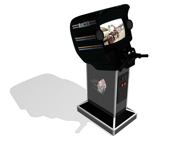 Motorcycle Arcade Game Machine 3d Model 3ds Max Files Free