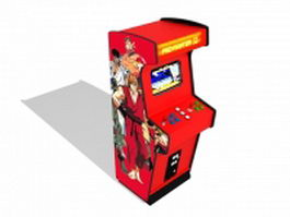 Classic arcade machine cabinet 3d model