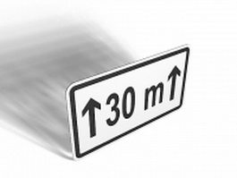 Distance road sign 3d model