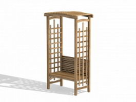 School bus stop shelter 3d model