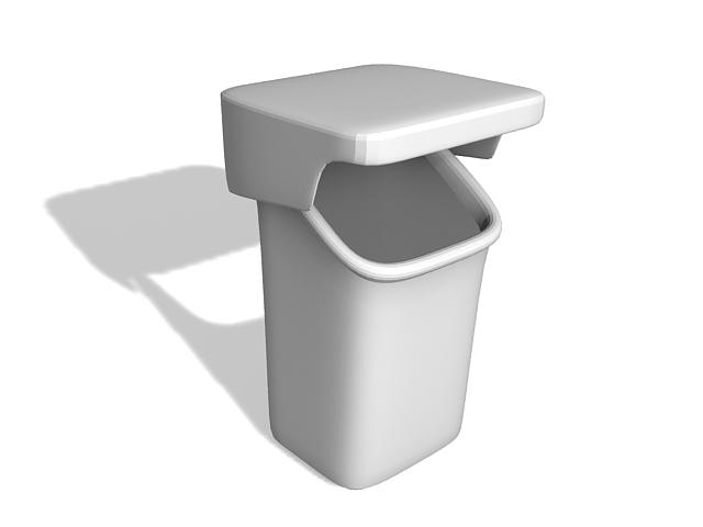 Street trash can 3d model