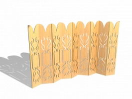 Folding screen room divider 3d model