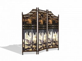 Vintage room screen dividers 3d model