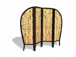 Chinese calligraphy screen 3d model