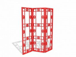 Folding lattice screen 3d model