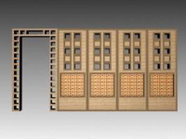 Trellis room divider 3d model
