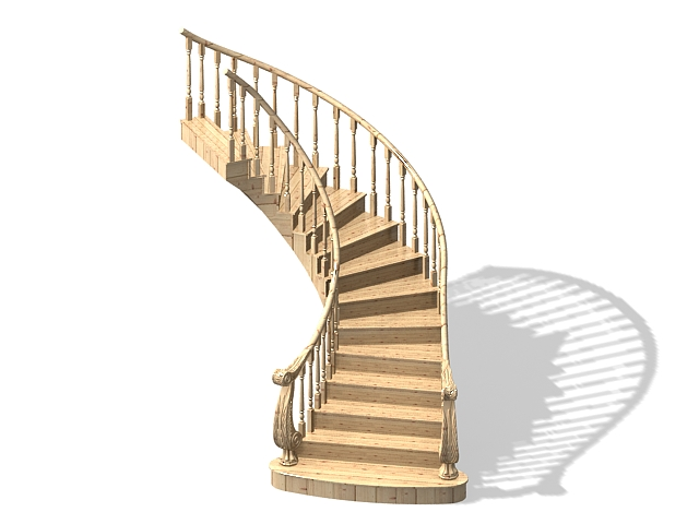 Curved Stair Design 3d Model 3ds Max Files Free Download