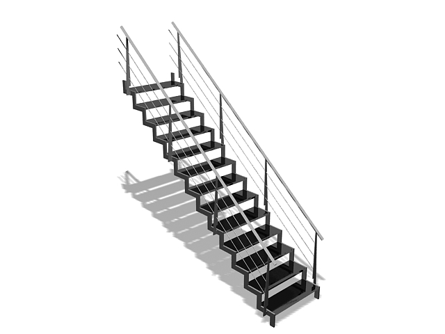 Outdoor Metal Staircase 3d Model