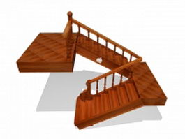 Second sloor stairs 3d model