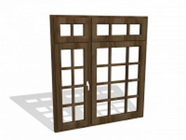 Door and window 3d models free download page 7 for Wood window design image