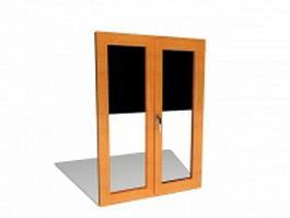 Interior wood window 3d model