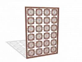 Decorative screening panel 3d model