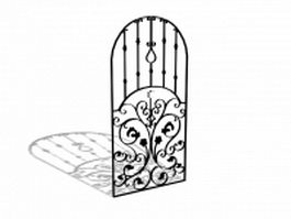 Wrought iron window decorations 3d model