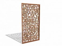 Geometric wood panel 3d model