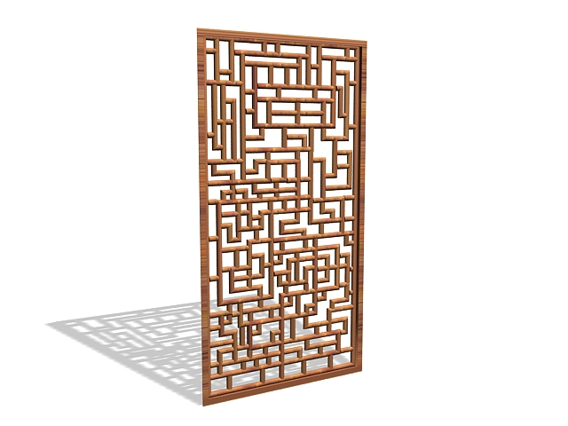 Geometric Wood Panel 3d Model 3ds Max Files Free Download