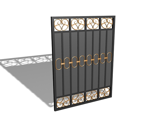 modern house gate 3d model 3ds max files free download modelingmodern house gate 3d model
