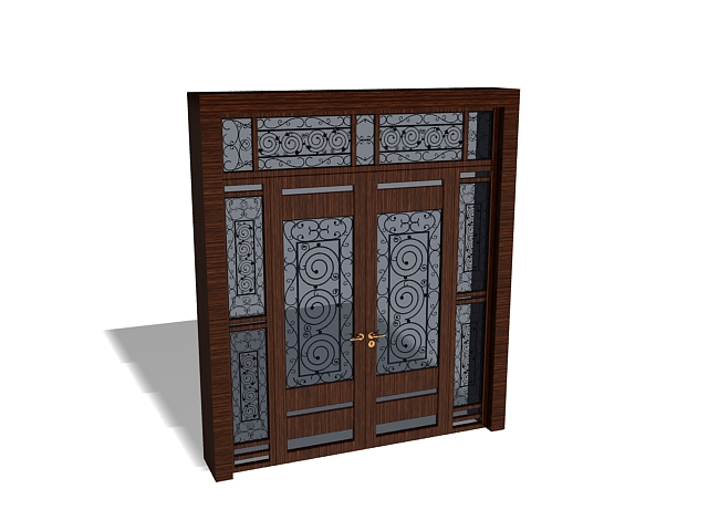 Exterior front door 3d model 3ds max files free download for Exterior 3d model