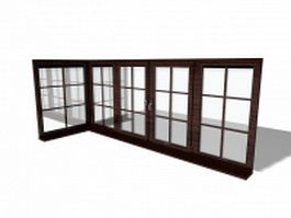 Room dividers french door 3d model