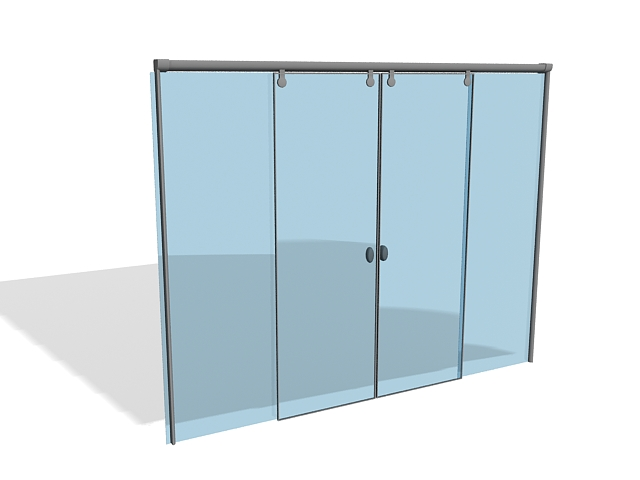 Automatic sliding doors 3D Model  sc 1 st  CadNav : door download - pezcame.com