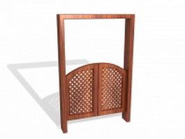 Double swinging bar door 3d model