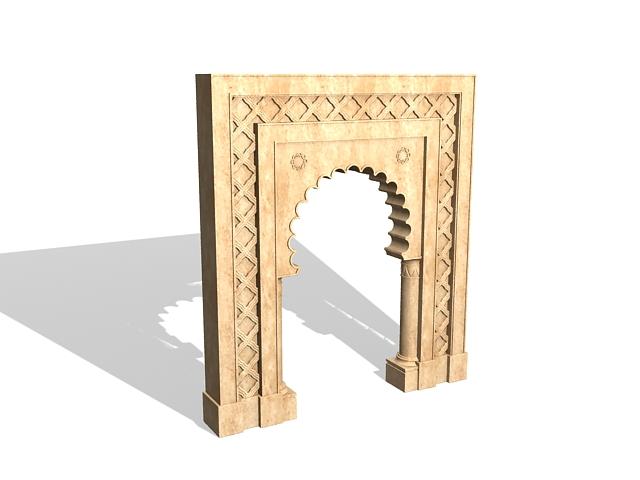 Marble door surround 3d model 3ds max files free download - modeling