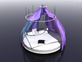 Round canopy bed 3d model