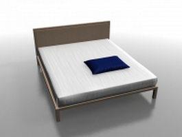 Platform bed with mattress 3d model