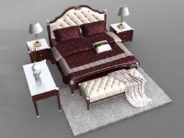 Classic bedroom sets 3d model