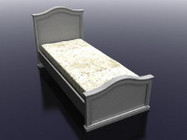 Country French twin bed 3d model