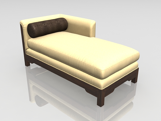 Modern chaise lounge 3d model 3ds max files free download for Chaise 3d dessin