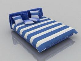 Modern soft platform bed 3d model