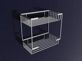 Metal bathroom shelves 3d model
