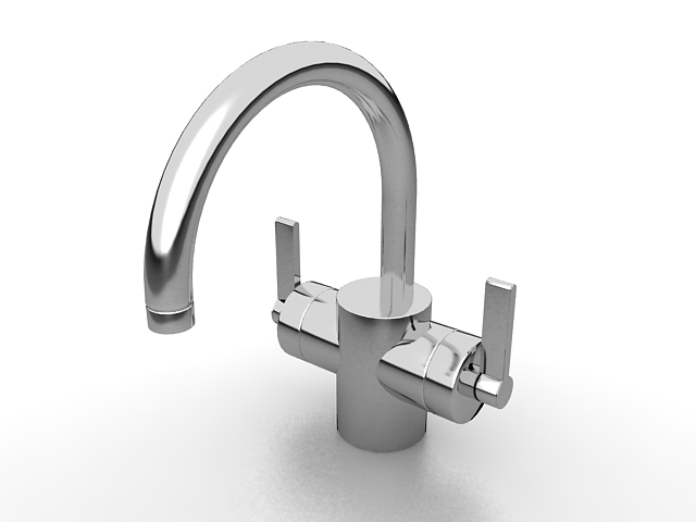 Gooseneck Bathroom Faucet 3d Model