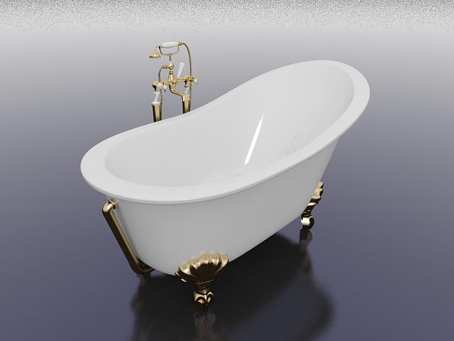 Vintage Slipper Tub 3d Model 3ds Max Files Free Download