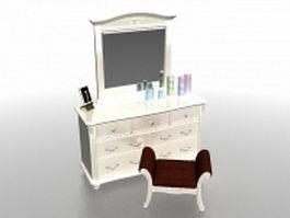 Lowboy vanity dresser 3d model