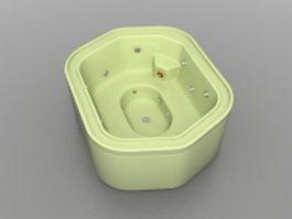Green whirlpool bathtub 3d model