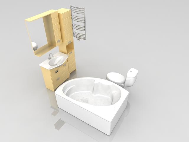 Bathroom equipment design 3d model 3ds max files free for Bathroom design 3d free download