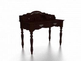 Victorian vanity table 3d model