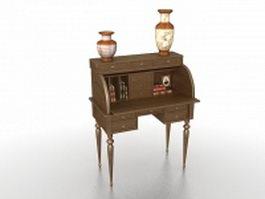 Secretarial desk 3d model