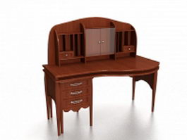 Dressing table with hutch 3d model