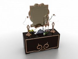 Vintage makeup table vanity 3d model