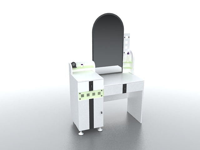 Modern Makeup Vanity Table 3D Model