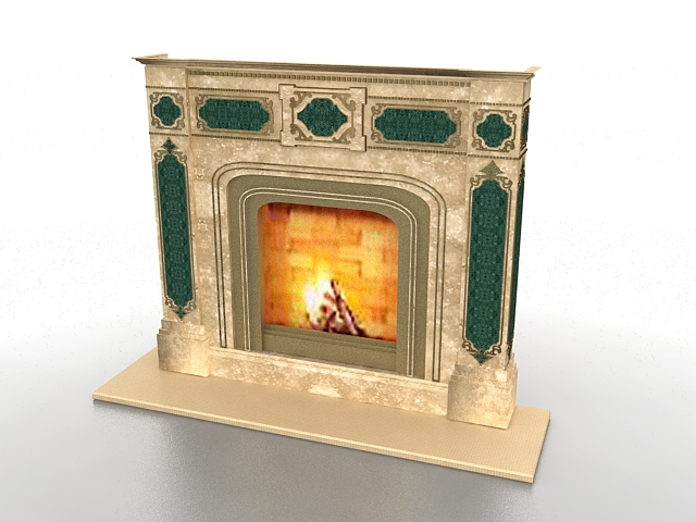 electric fireplace 3d model 3ds max files free download