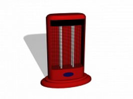 Red electric heater 3d model