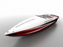 Go fast boat 3d model