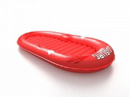 Rubber raft boat 3d model