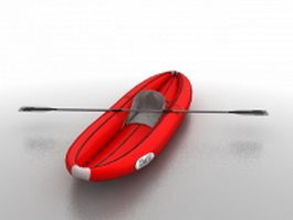 Inflatable rafting boat 3d model