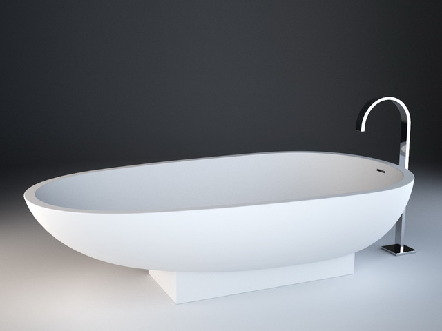 Spoon Shaped Bathtub 3d Model 3d Studio 3ds Max Autocad Drawing Files Free Download Modeling