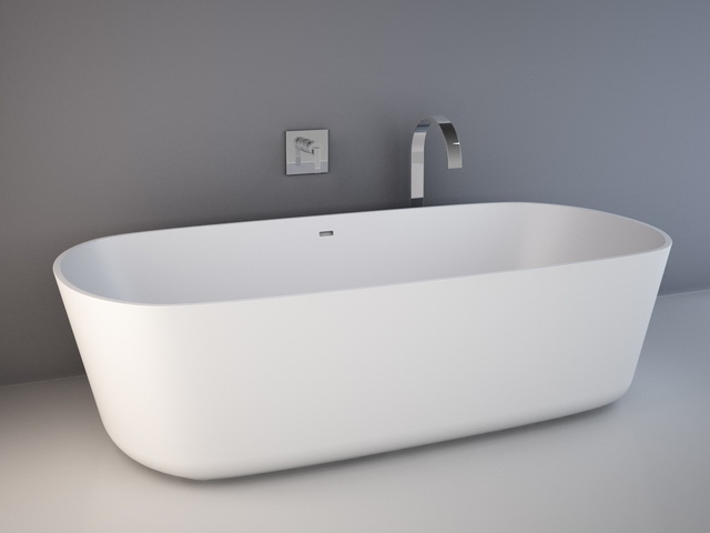 Oval Bathtub 3d Model 3d Studio 3ds Max Autocad Drawing